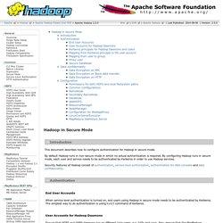 Apache Hadoop 2.5.0 - Hadoop in Secure Mode