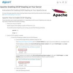 Apache: Instructions for OCSP Stapling