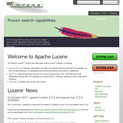 Welcome to Apache Lucene!