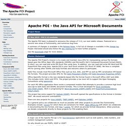 Apache POI - the Java API for Microsoft Documents