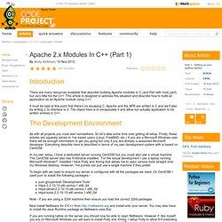 Apache 2.x Modules In C++ (Part 1)