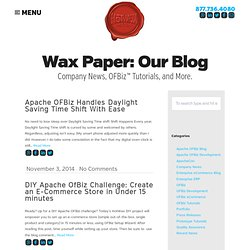 Apache OFBiz Blog | HotWax Media
