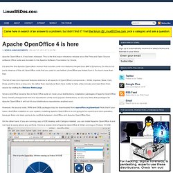 Apache OpenOffice 4 is here