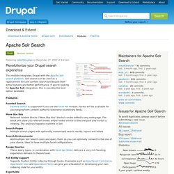 Apache Solr Search Integration