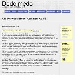Apache Web server - Complete Guide