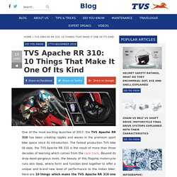 TVS Apache RR 310: 10 Things That Make It One of Its Kind - TVS Blog