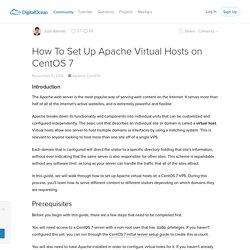 How To Set Up Apache Virtual Hosts on CentOS 7
