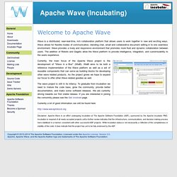 Wave - Welcome to Apache Wave (incubating)
