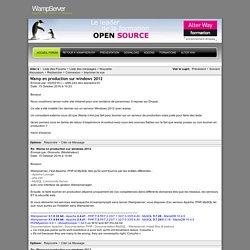 - PHP, Apache, MySQL, Windows : WampServer