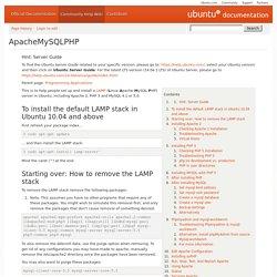 ApacheMySQLPHP
