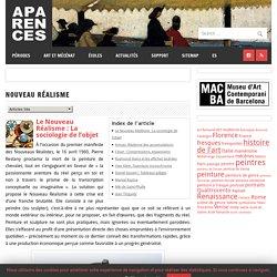 Nouveau Réalisme – Aparences: Histoire de l'Art et actualité culturelle