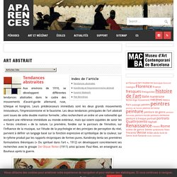 Art abstrait – Aparences: Histoire de l'Art et actualité culturelle