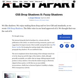 CSS Drop Shadows II: Fuzzy Shadows