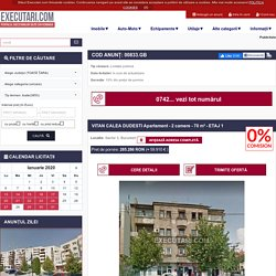 VITAN CALEA DUDESTI Apartament - 2 camere - 70 m² - ETAJ 1 - licitatie in curs de actualizare, in Sector 3