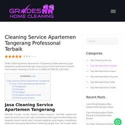 Cleaning Service Apartemen Tangerang Professonal Terbaik