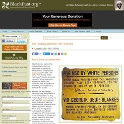 Apartheid (1948-1994)
