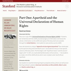 Part One: Apartheid and the Universal Declaration of Human Rights