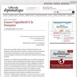 Casser l'apartheid à la française, par Dominique Vidal (Le Monde diplomatique, décembre 2005)