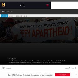 APARTHEID - ARTICLES, VIDEOS, PICTURES & FACTS