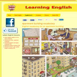 Apartment building vocabulary PDF - Learning English vocabulary and grammar