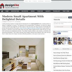 Modern Small Apartment With Delightul Details | DesignLike