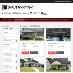 House, Apartment, Duplex, Condo, Vacant Land for Rent in Michigan