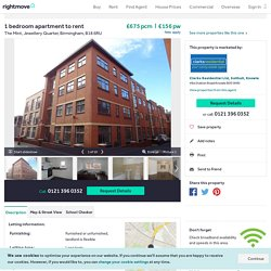 1 bedroom apartment to rent in The Mint, Jewellery Quarter, Birmingham, B18 6RU, B18