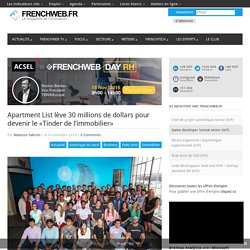 Apartment List lève 30 M USD pour devenir le «Tinder de l'immobilier» - 04/11/16