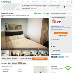 Studio flat to rent in Superior studio apartment, Piccadilly Residence, York, YO1, YO1