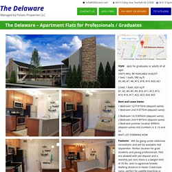 The Delaware – Apartment Flats for Professionals / Graduates