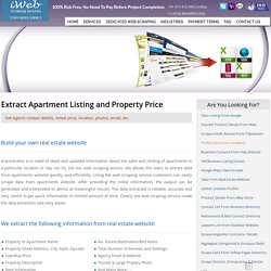 Extract Apartment Listing, Property Price Scraping, Extract Real Estate Agents Email