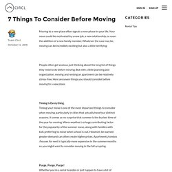 7 Things To Consider Before Moving