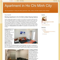 Renting Apartment in Ho Chi Minh at Best Staying Options