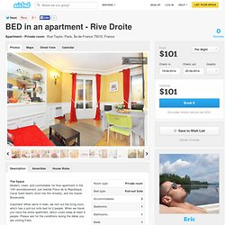 BED in an apartment - Rive Droite in Paris