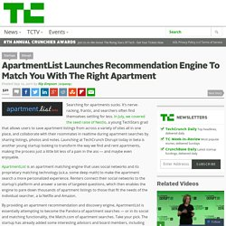 ApartmentList Launches Recommendation Engine To Match You With The Right Apartment