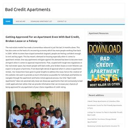 Rent apartment with bad credit