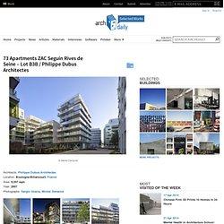 73 Apartments ZAC Seguin Rives de Seine – Lot B3B / Philippe Dubus Architectes