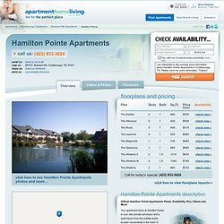 Hamilton Pointe Apartments - Chattanooga Apartments For Rent | Chattanooga, TN
