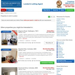 Apartments to Rent in London