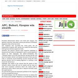 APC, Buhari, Oyegun win awards