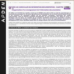 L'organisation d'un enseignement de l'information-documentation [APDEN]