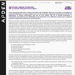 Guide pour les bibliothèques scolaires (IFLA)