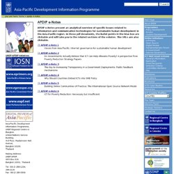 e-Notes — Asia-Pacific Development Information Programme