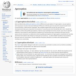 Aperception