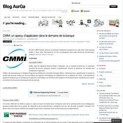 CMMi: un aperçu d'application dans le domaine de la banque