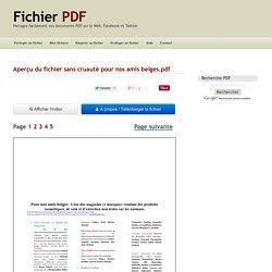 Aperçu du fichier sans cruauté pour nos amis belges.pdf - Page 1/5