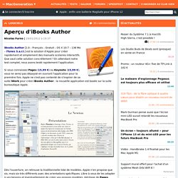 Aperçu d'iBooks Author