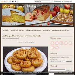 Sablés apéritif au parmesan et piment d'Espelette -