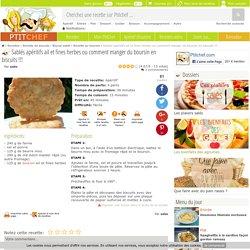 Sablés apéritifs ail et fines herbes ou comment manger du boursin en biscuits !!!, Recette Ptitchef
