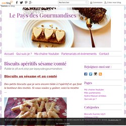 Biscuits apéritifs sésame/comté - Le Pays des Gourmandises